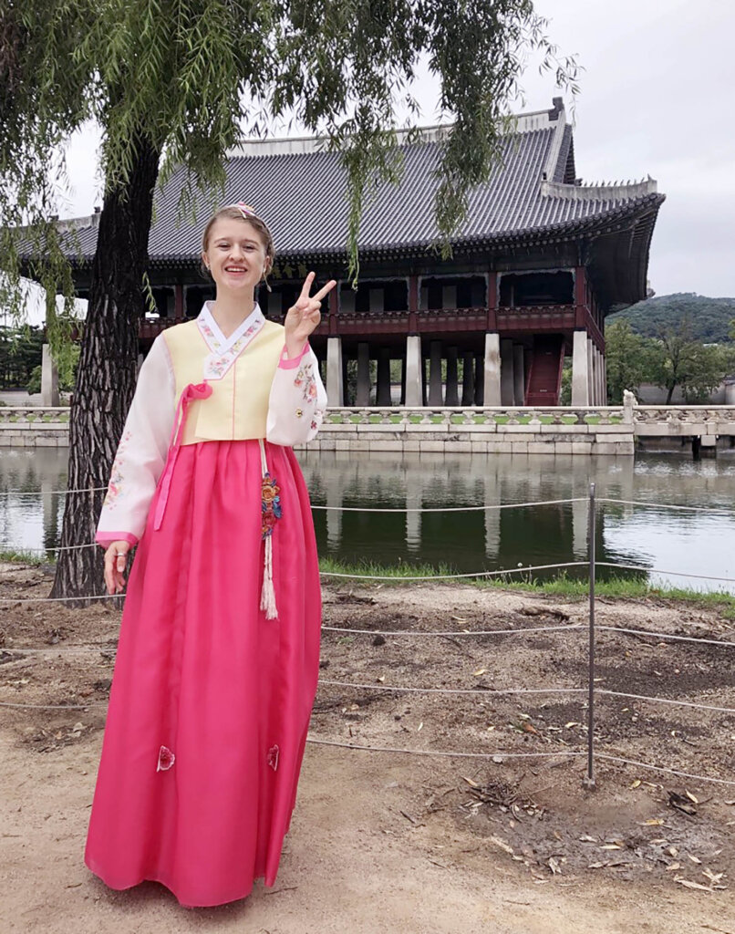 """The debut episode of """"The Loper Experience"""" podcast features an interview with UNK junior Emma Porter, who spent a semester in South Korea through the study abroad program. (Courtesy photo)"""
