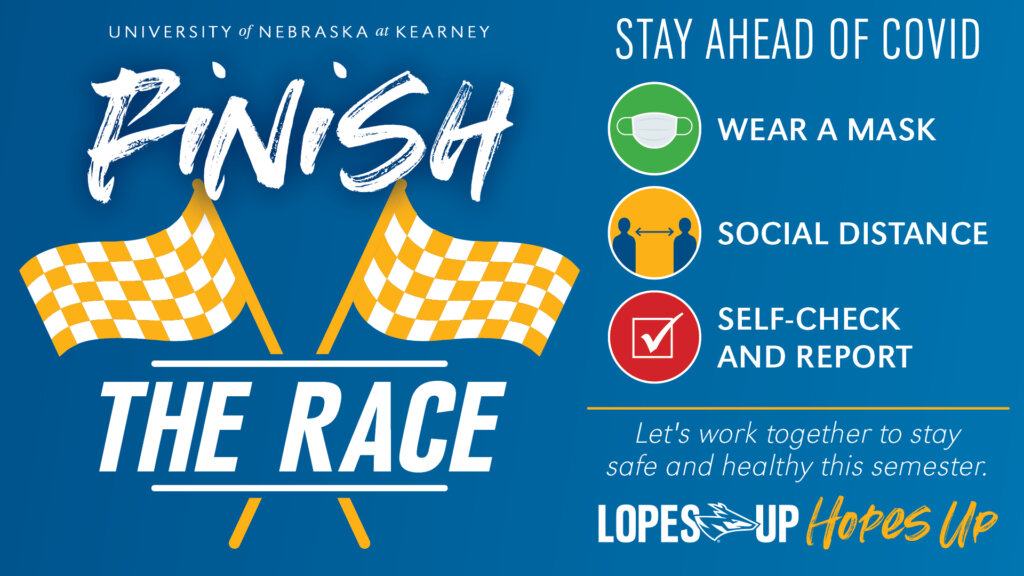 Finish the Race Graphic