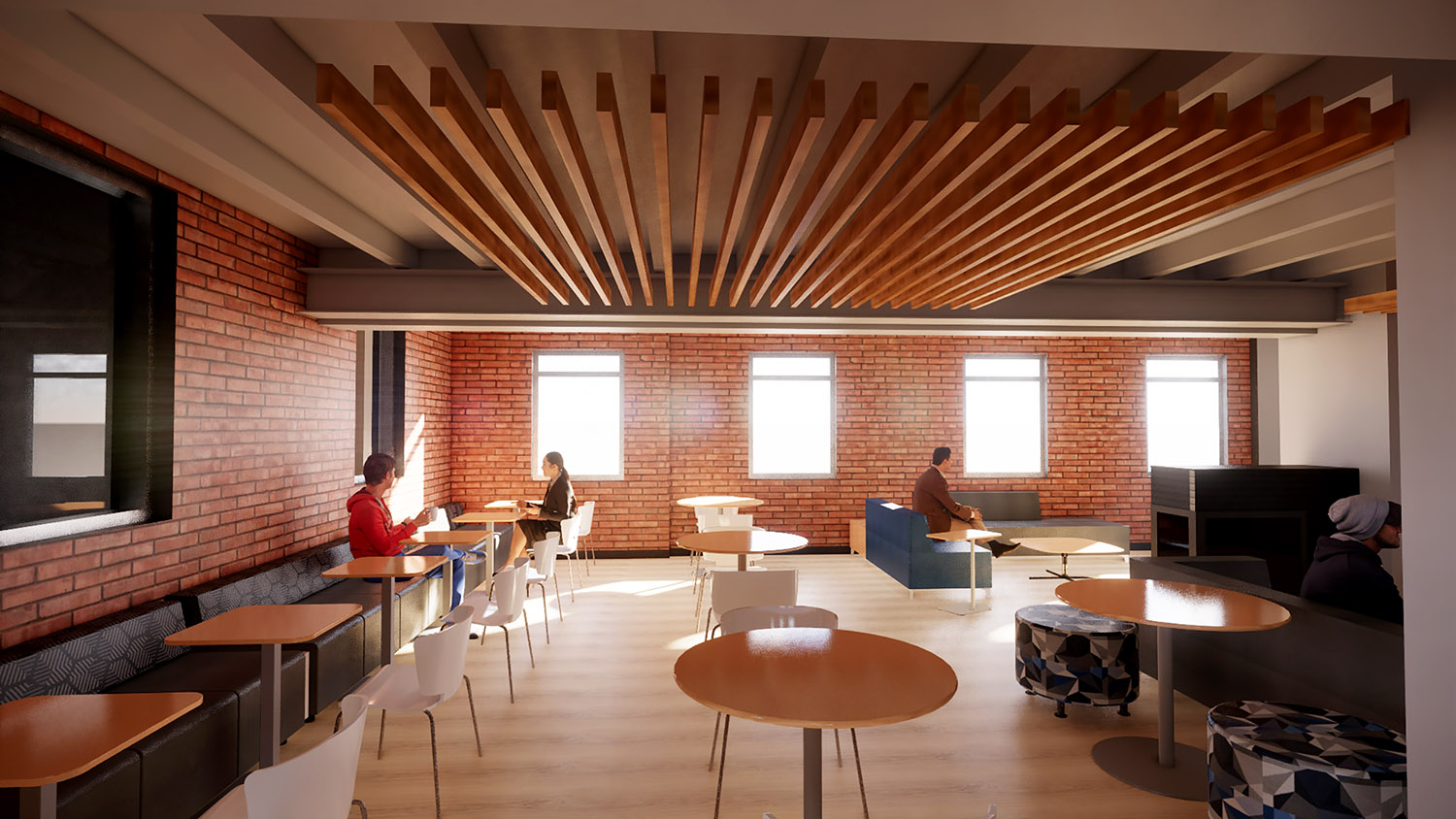 A remodeling project planned at West Center creates more spaces for students to socialize, study and collaborate.