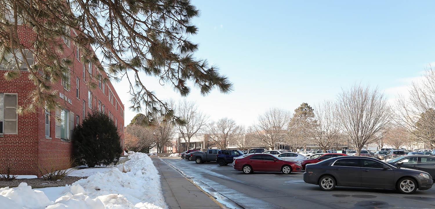 UNK is proposing a project that replaces the current fraternity and sorority housing through a combination of new construction and a rebuild of Martin Hall (pictured on the left). The new residence hall would be located just north of Martin Hall.