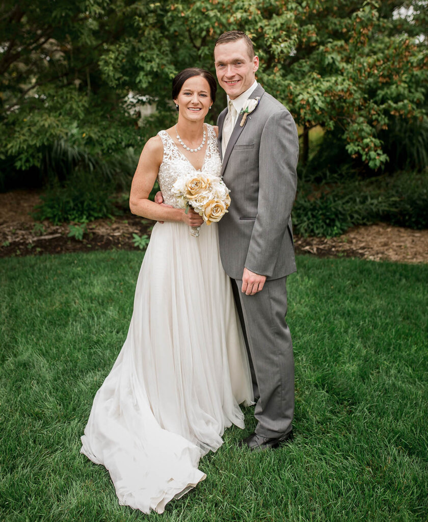 UNK women's basketball coaches Carrie and Devin Eighmey were married Sept. 3, 2016, at Yanney Park in Kearney. They coached their first game together two months later. (Courtesy photo)