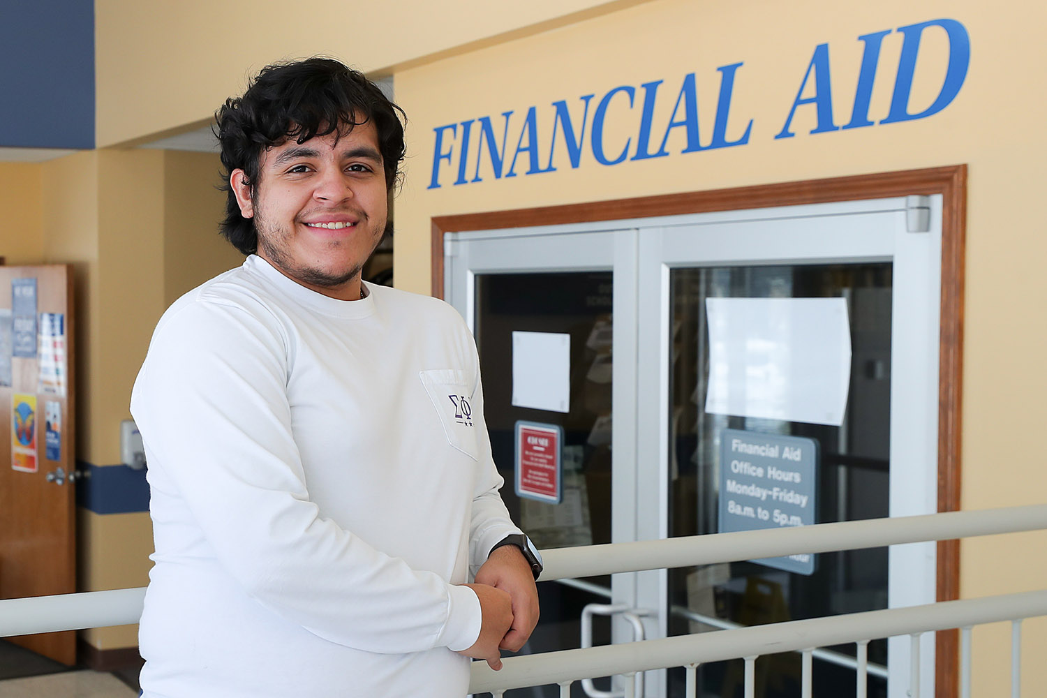 """""""The help I received from the Financial Aid team is the reason I will be graduating this May,"""" says Agustin Ruvalcaba, who is studying wildlife biology at UNK."""