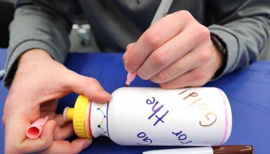 Greek Week water bottle decorating-1