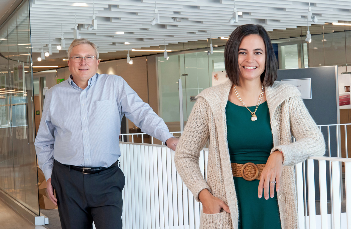 """UNK faculty members Tim Obermier and Angela Hollman hope to """"visualize"""" the digital divide through their Rural Measures project, giving regulatory agencies and internet providers a clearer picture of where broadband infrastructure needs to improve."""