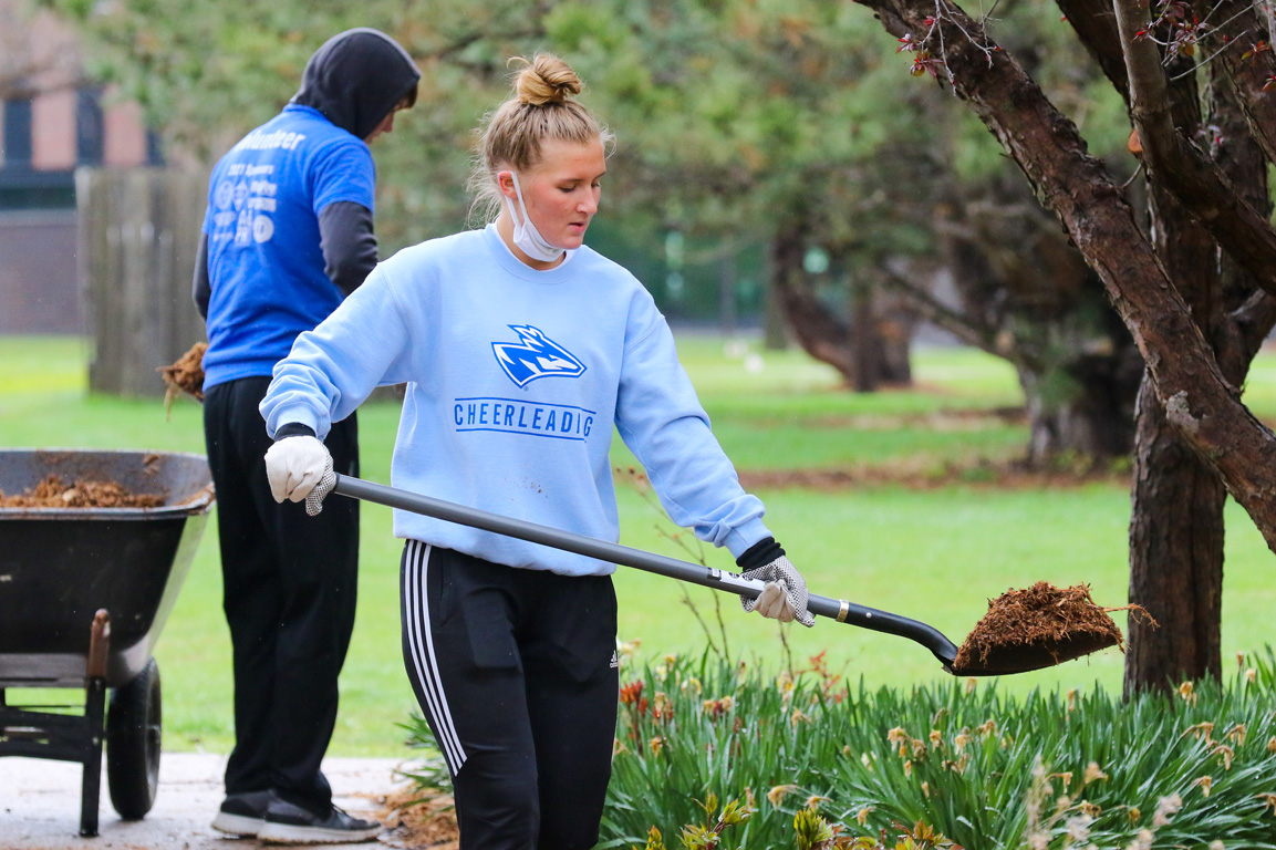Roughly 600 UNK students completed community service projects at more than 50 locations on Saturday during The Big Event.