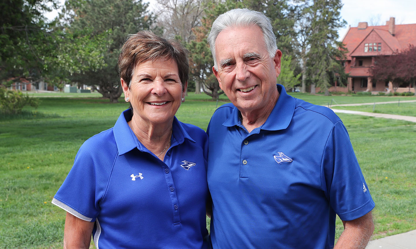 Pete and Jane Kotsiopulos are regular attendees at UNK sports, performing arts and academic events, and they provide financial support for a variety of programs and projects, including the Kotsiopulos Family Scholarship.