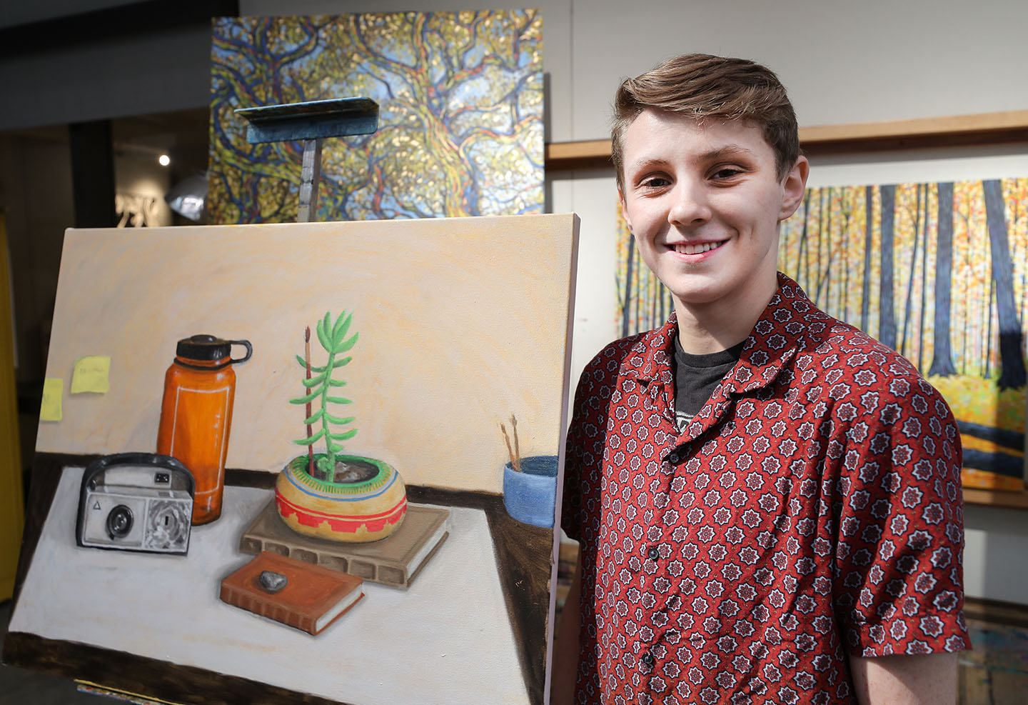 Ryan Sikes, an art education major, received the Multicultural Community Service Scholarship from UNK's Office of Student Diversity and Inclusion. The scholarship covers tuition for up to four years.