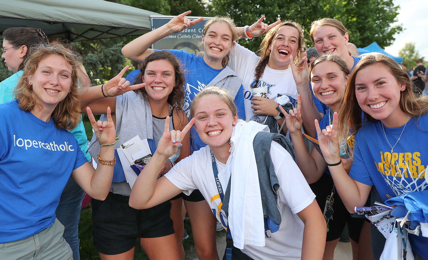 A longstanding UNK tradition, Blue and Gold Welcome Week features a variety of activities that connect new and returning students with campus and the Kearney community.