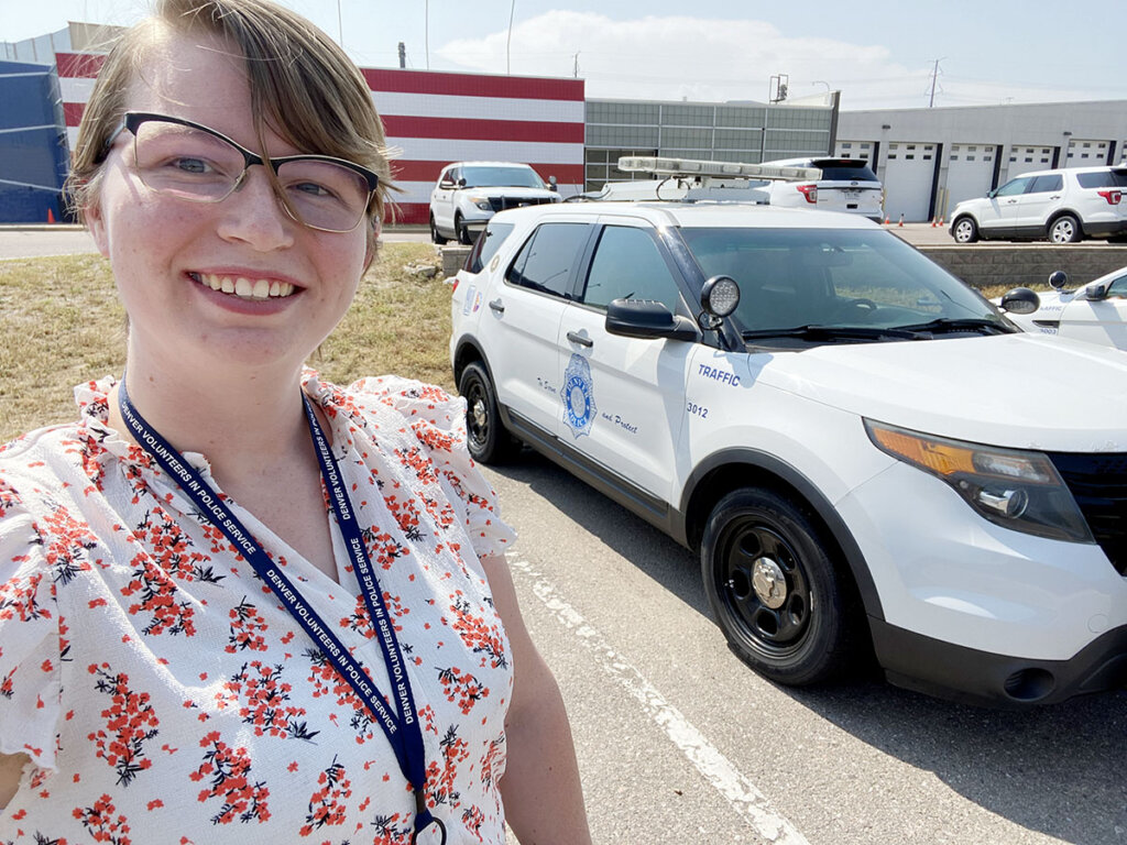 Recent UNK graduate Josie Minor interned with the Denver Police Department this summer. (Courtesy photo)