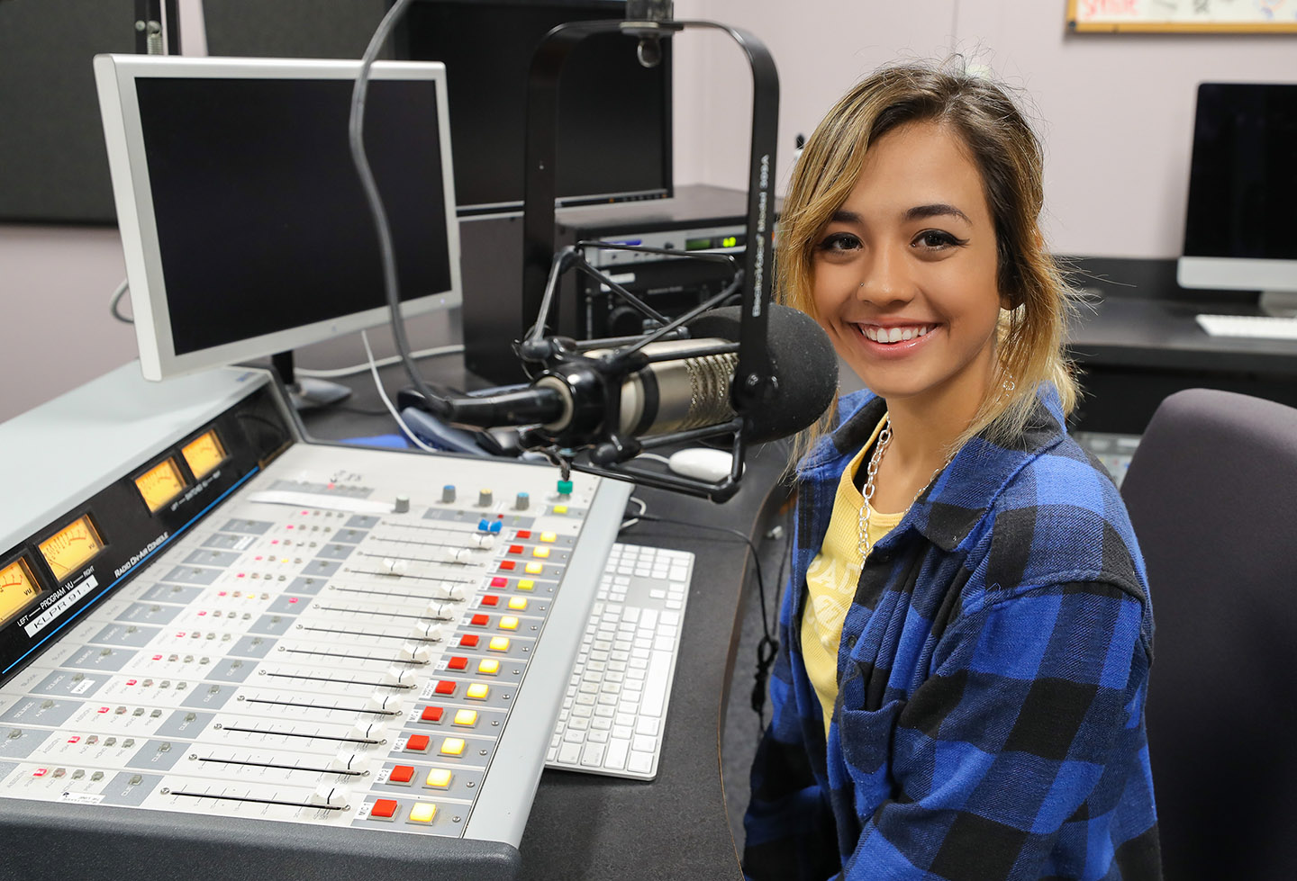 Alexis Sander is a sports communication major at UNK, where she announces games and co-hosts a weekly sports talk show on the campus radio station, KLPR 91.1 FM.