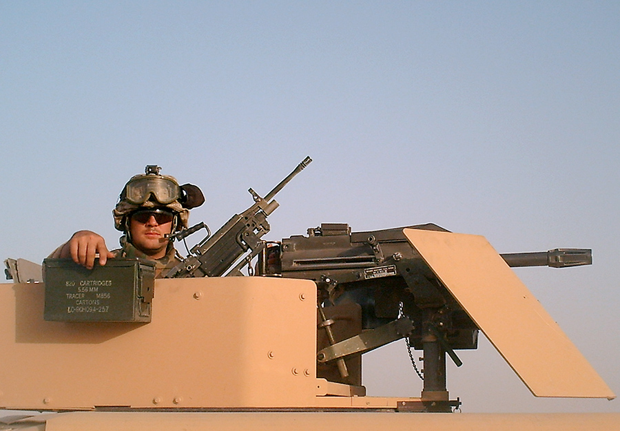 Lance Blythe served two combat tours in Iraq as a military police officer in the U.S. Marine Corps.