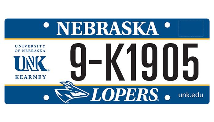 Unk seeking its own nebraska license plate for State of nebraska department of motor vehicles