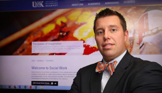 """""""The online program will directly benefit Nebraska. Nebraska currently, and historically, has a shortage of qualified professionals in social work-related positions,"""" Ben Malczyk says of UNK's new online social work programs. (Photo by Corbey R. Dorsey, UNK Communications)"""