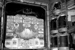 Students in UNK's Community History and Preservation Class this week are restoring the 82-year-old Kearney Opera House curtain, which graced the stage of the theater from 1935 until the building was demolished in 1954. (Photo courtesy of Kearney Hub
