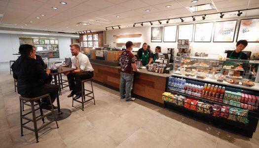 Starbucks opened Wednesday inside the University of Nebraska at Kearney's Nebraskan Student Union. (Photo by Corbey R. Dorsey, UNK Communications)