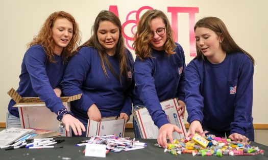 Sisters for Soldiers: UNK's Alpha Omicron Pi sorority sending holiday cheer to US military members