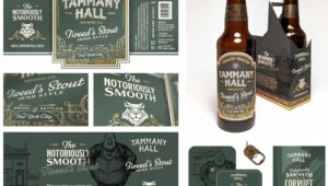 UNK senior Jase Hueser received gold awards for three entries, including this brand identity campaign for the fictional Tammany Hall Brewing Co., during the annual Nebraska American Advertising Awards.
