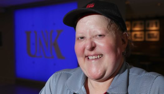 Cindy Heaston, who works at Chick-fil-A on the UNK campus, was recently voted staff member of the year by the UNK student body. She's been an employee of Chartwells, the university's dining services provider, since August 1998. (Photo by Corbey R. Dorsey, UNK Communications)