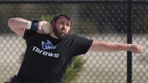 In addition to being a standout thrower for the UNK men's track and field team, Tanner Barth is a health and physical education major and president of the Student-Athlete Advisory Committee. (Photo by Corbey R. Dorsey, UNK Communications)
