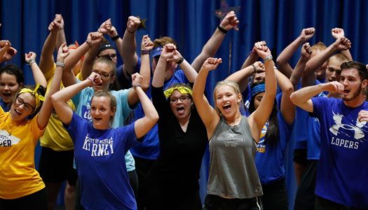 UNK's homecoming lip-sync contest is 7 p.m. Thursday inside the Health and Sports Center, followed by the crowning of UNK's homecoming royalty. It is open to the public. (Photo by Corbey R. Dorsey, UNK Communications)