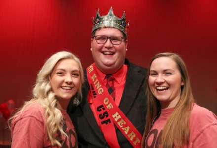 Adam Schultis named Mr. King of Hearts during annual Alpha Phi fundraiser