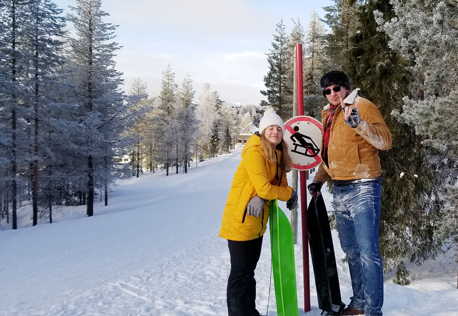 Joel Kreifels visits a ski resort in Lapland while studying abroad in Finland.