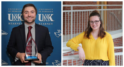 Trey Janicek, Emma Thede named UNK Greek Man, Woman of the Year