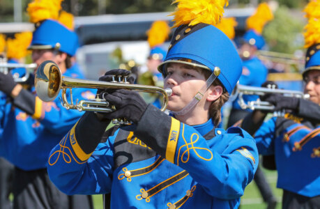 Pride of the Plains Marching Band unveils flashy new uniforms
